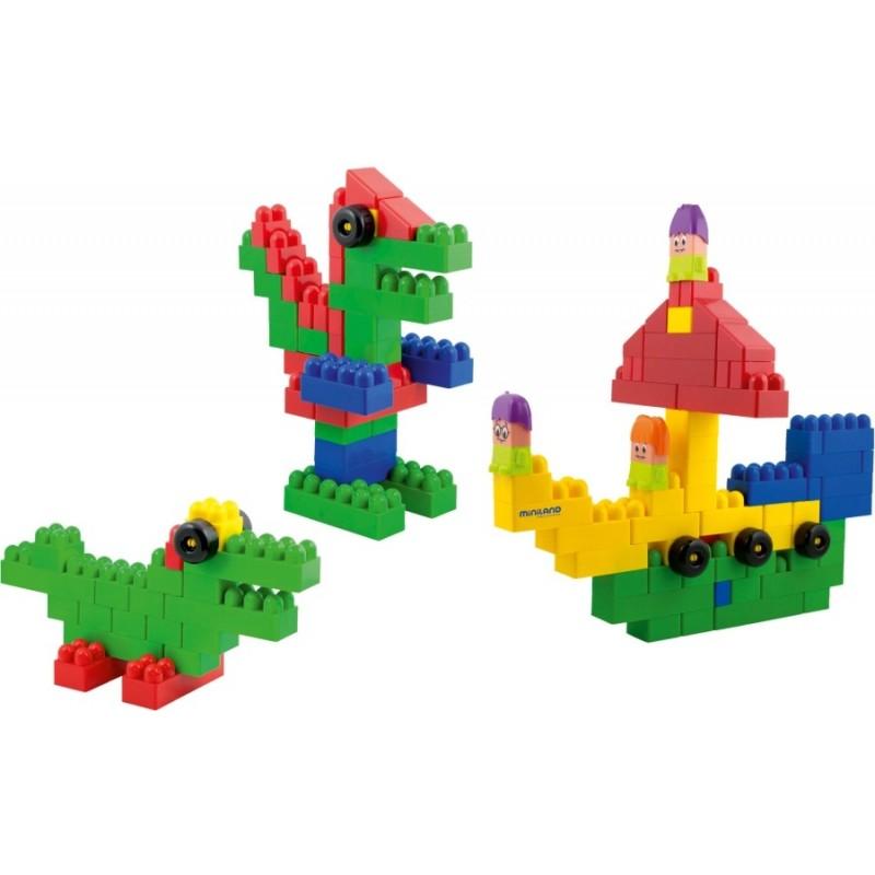 Blocks Super Scoala 96 piese Miniland