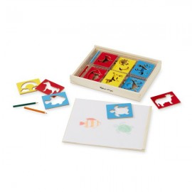 Sabloane din lemn Mix Melissa and Doug