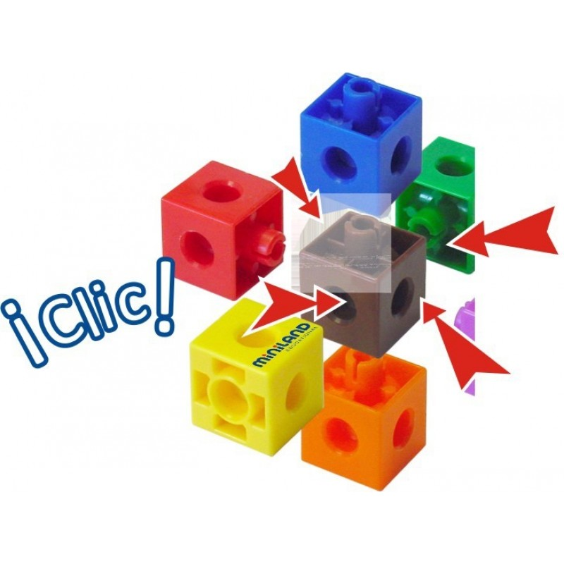 Set 100 cuburi 2 cm Miniland