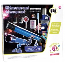 Set microscop si telescop pentru copii Profesor Pi
