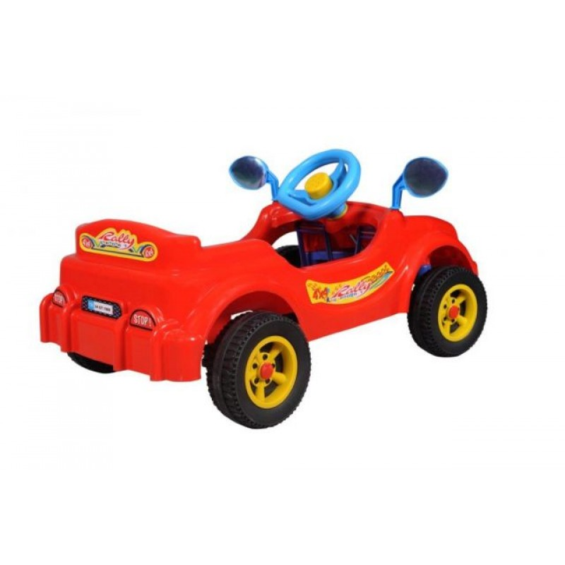 Masina cu pedale Visul copiilor rosie Guglu Plastic