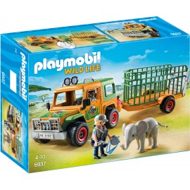 Camion Forestier si Elefant Playmobil