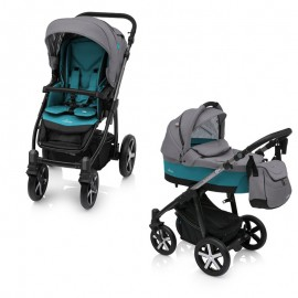 Carucior Multifunctional 2 in 1 Baby Design Husky Winter Pack 05 Turquoise 2018