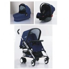 Carucior 3 in 1 M7 sistem Carello Jeans Blue
