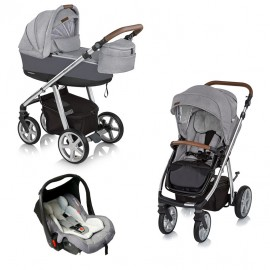 Espiro Next Manhattan carucior multifunctional 3 in 1 217 Alaska Grey 2018