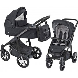 Carucior 2 in 1 Husky carucior multifunctional plus Winter Pack 10 Black 2019 Baby Design