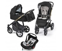 Carucior 3 in 1 Lupo Comfort Limited multifunctional 12 Black 2019 Baby Design