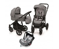 Carucior 3 in 1 multifunctional Lupo Comfort 07 Gray 2019 Baby Design