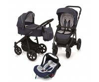 Carucior 3 in 1 multifunctional Lupo Comfort 03 Navy 2019 Baby Design