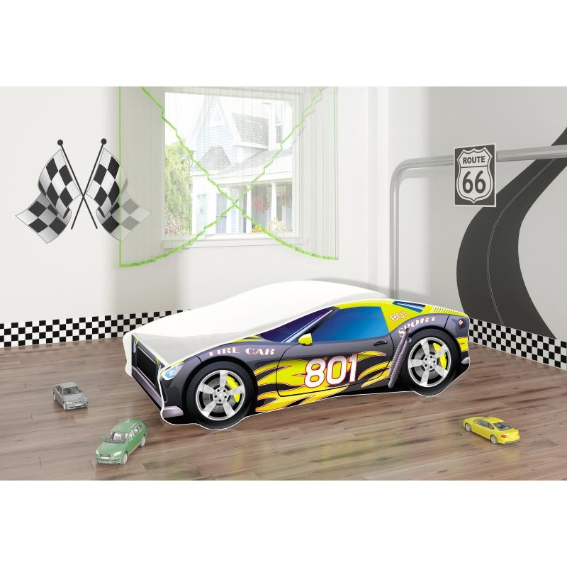 Pat Tineret MyKids Race Car 06 Black160x80