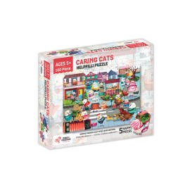 Puzzle cu surprize Helpfilli 100 piese Chalk and Chuckles