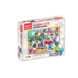 Puzzle cu surprize Lotothot 100 piese Chalk and Chuckles