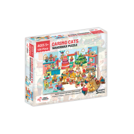 Puzzle cu surprize Makermax 100 piese  Chalk and Chuckles