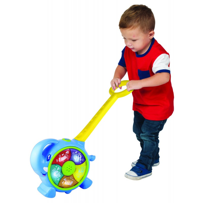 Jucarie de impins 2 in 1 Elefantel Little Learner