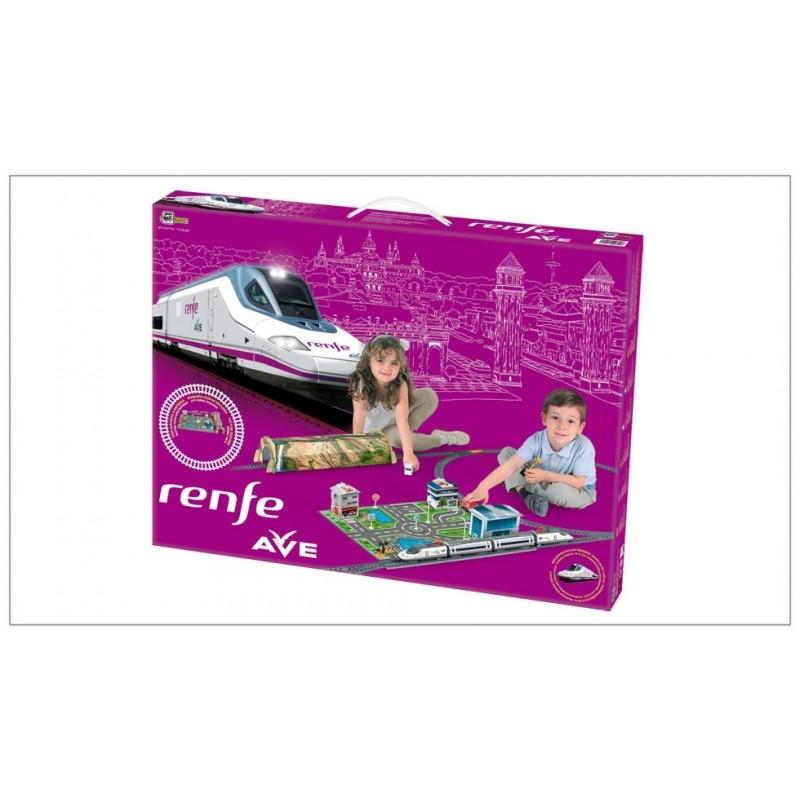 Trenulet electric High Speed RENFE cu statie, tunel si oras