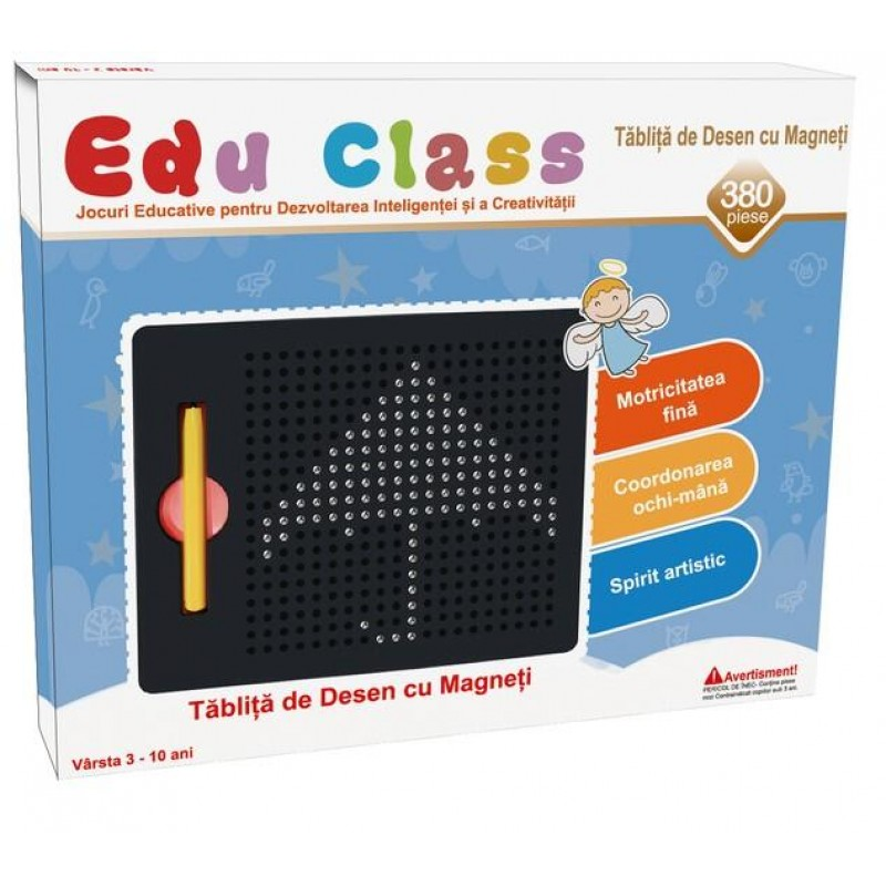 Tablita de desen cu magneti 380 piese Edu Class