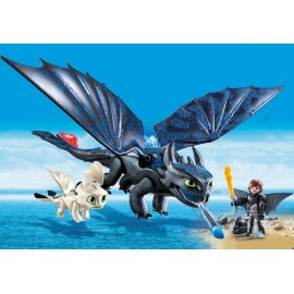 Hiccup Toothless Si Pui De Dragon Playmobil
