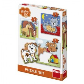 Baby puzzle animalute jucause 3 5 piese Dino Toys