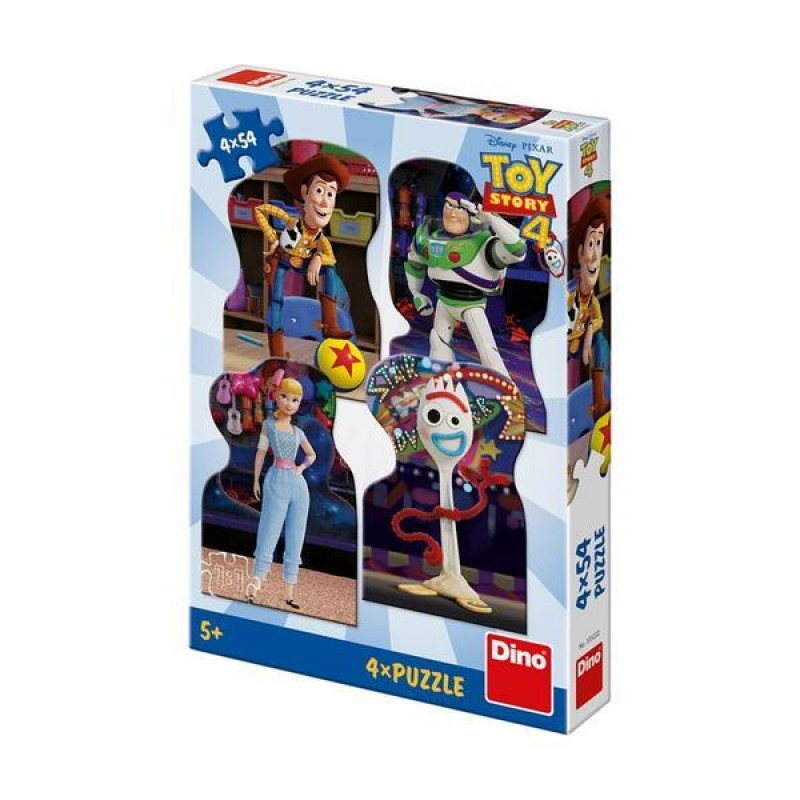 Puzzle 4 in 1 toy story 4 54 piese Dino Toys