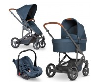 Carucior 3 in 1 Catania 4 AIO 5 in 1 woven navy Circle by ABC Design 2020