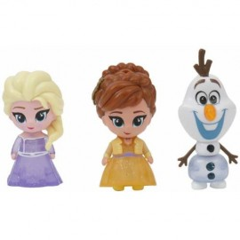Set 3 Mini Figurine Elsa Anna si Olaf Whisper and Glow Frozen 2 Giochi Preziosi