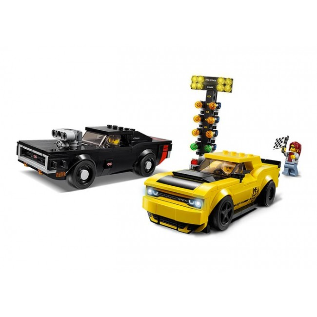 2018 Dodge Challenger SRT Demon si 1970 Dodge Charger R/T 75893 Lego Speed Champions