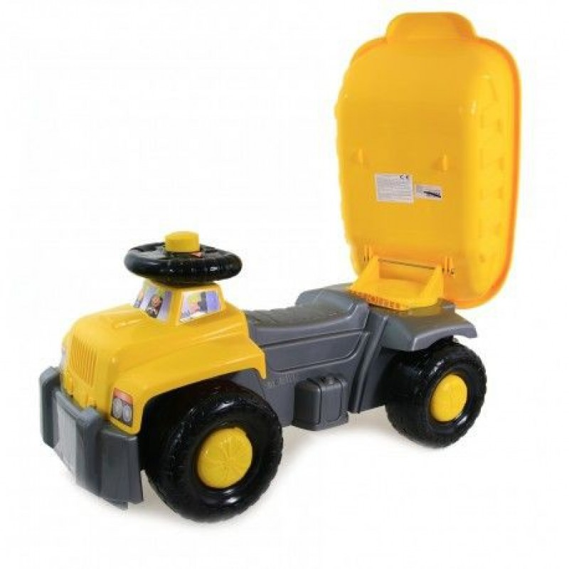 Camion basculant Carrier yellow Super Plastic Toys
