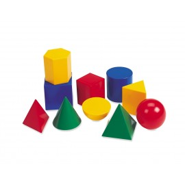 Corpuri geometrice din plastic 10 piese Learning Resources