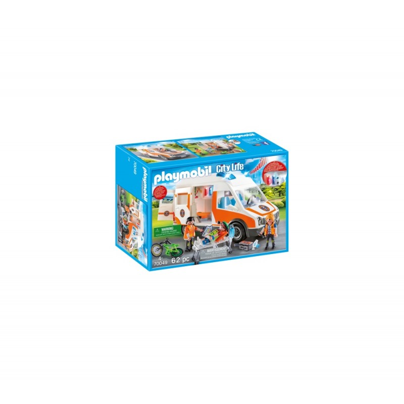 AMBULANTA CU LUMINI INTERMITENTE Playmobil