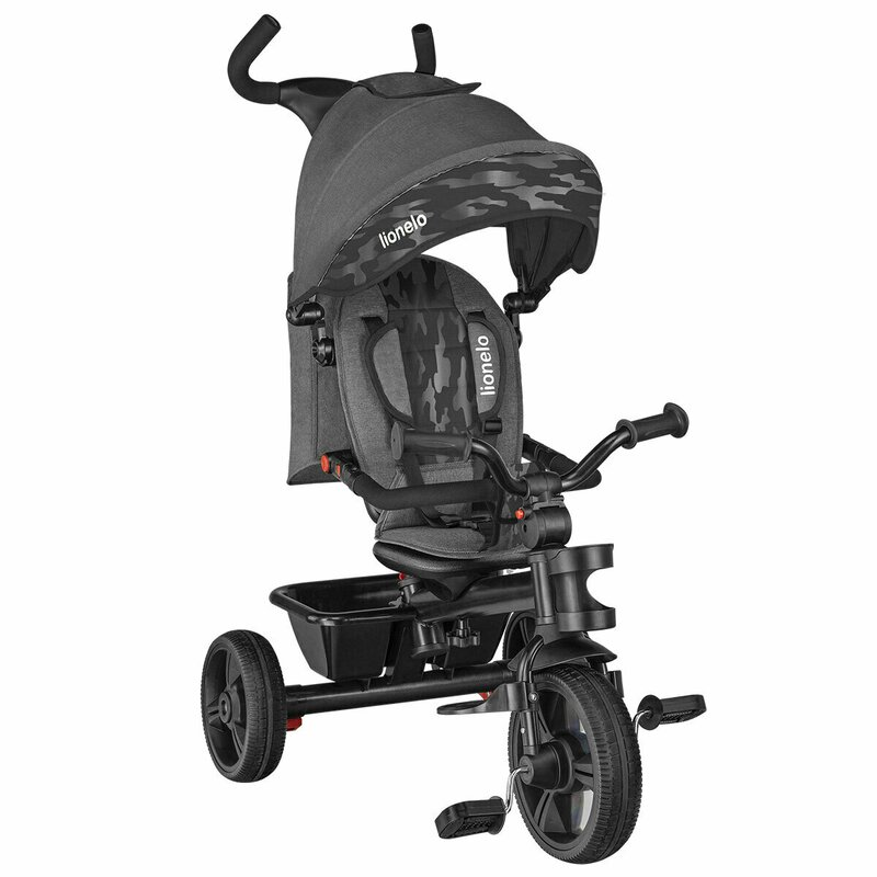 Tricicleta multifunctionala cu sezut reversibil pliabila Lionelo Haari Stone Grey