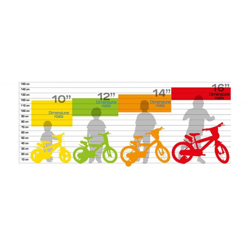 Bicicleta copii 12 Pompierul Sam Dino Bikes