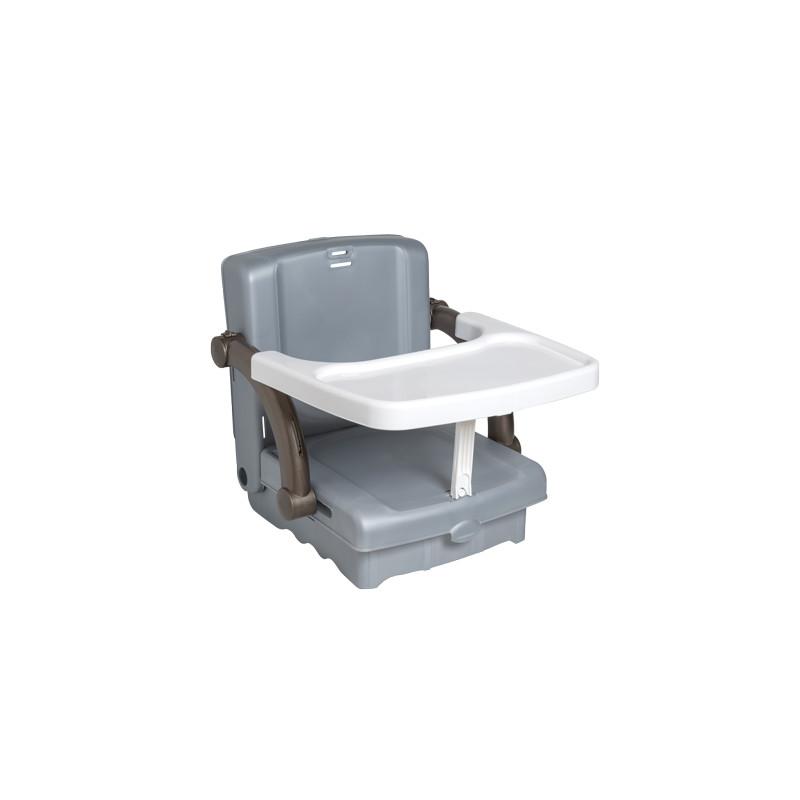 Inaltator scaun de masa portabil silver white taupe KidsKit