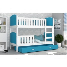 Patut tineret MyKids 2 in 1 Tami Color White Blue 190 80