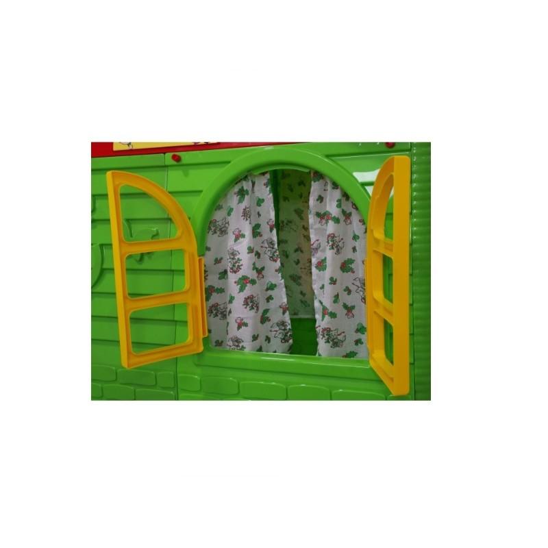 Casuta de joaca MyKids 02550 3 Green Red Mid