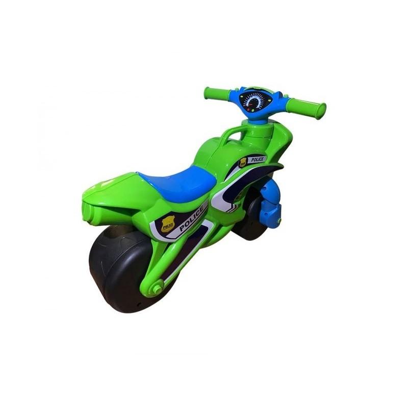 Motocicleta de impins MyKids Police Music 0139 52 Verde Albastru