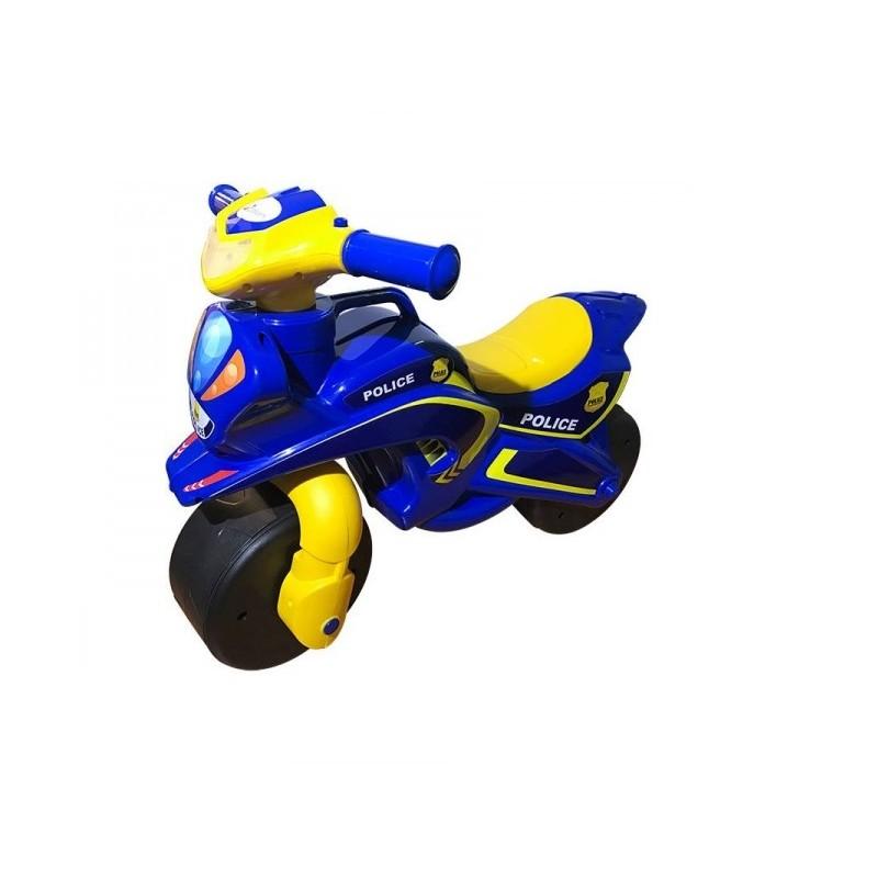 Motocicleta de impins MyKids Police Music 0139 57 Albastru Galben