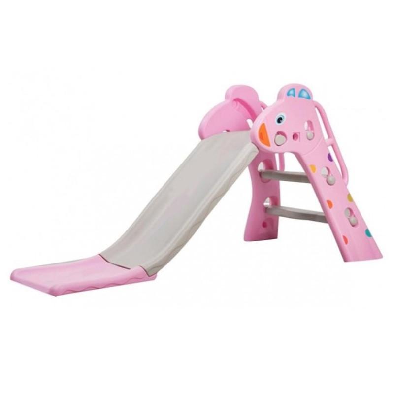 Tobogan MyKids Giraffe cu cos de baschet Pink