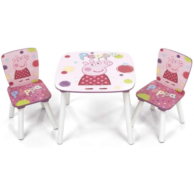 Set masuta si 2 scaunele Peppa Pig Arditex
