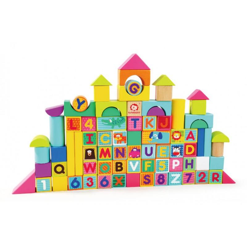 Cuburi pentru construit Animalute jucause Topbright