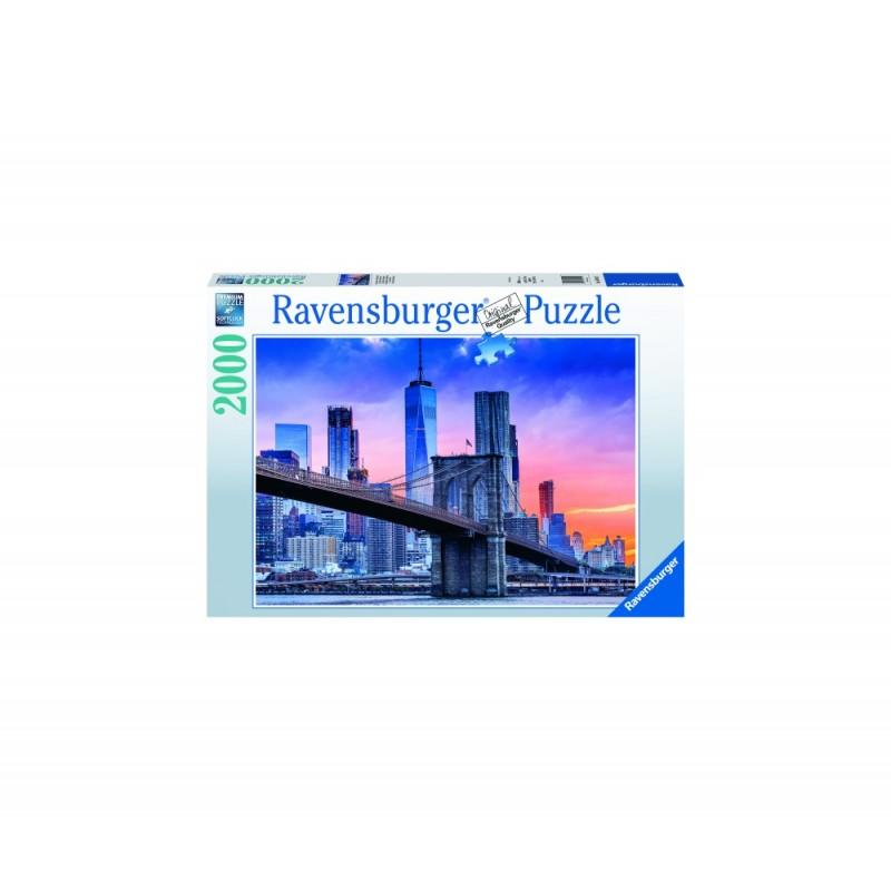 Puzzle apus pod New York 2000 piese Ravensburger