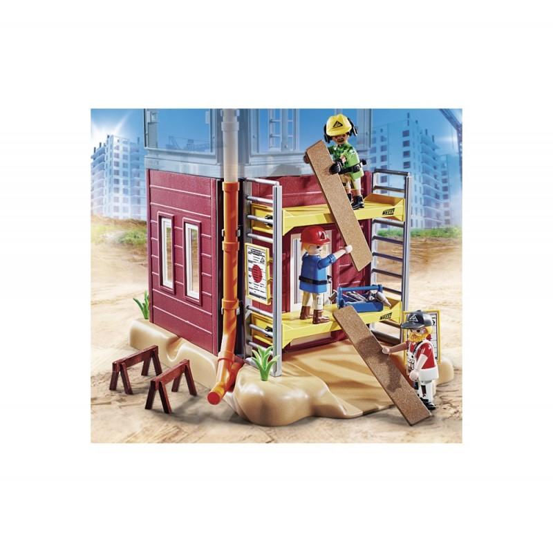 Muncitori cu schela Playmobil