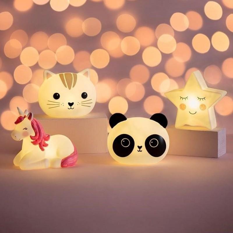 Lampa de veghe LED cu baterii rainbow unicorn Sass Belle