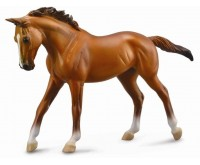 Figurina Cal Thoroughbred Mare Chestnut Deluxe Collecta