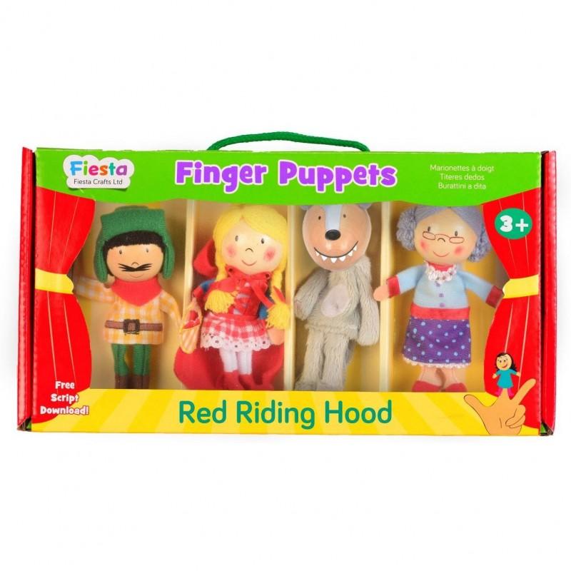 Set 4 Marionete pentru deget Scufita Rosie Fiesta Crafts