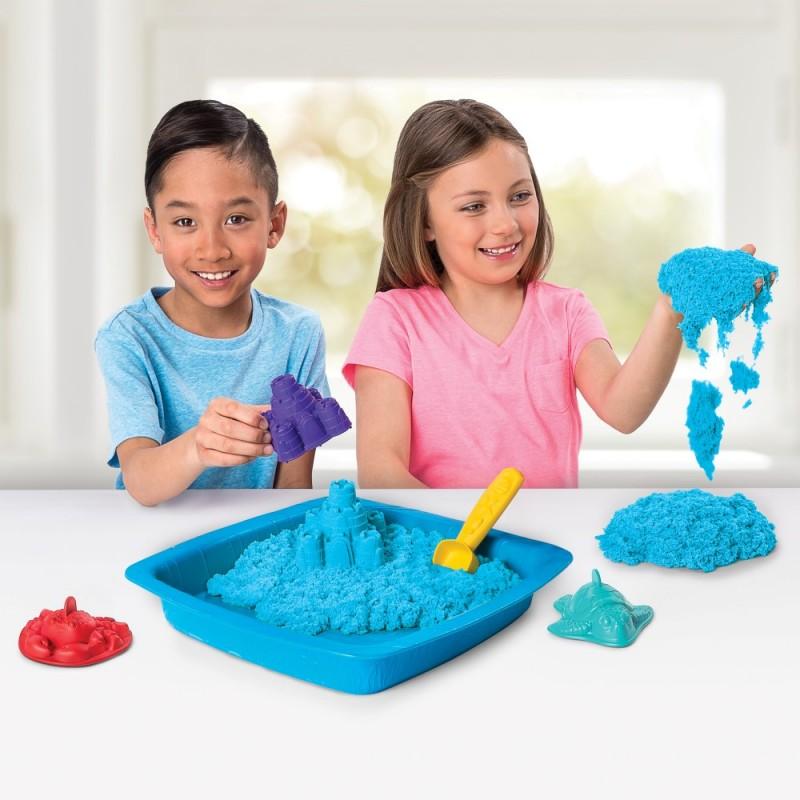 Kinetic Sand Set Complet Albastru Spin Master