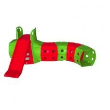 Tobogan cu tunel de joaca MyKids Verde Rosu 01470 3