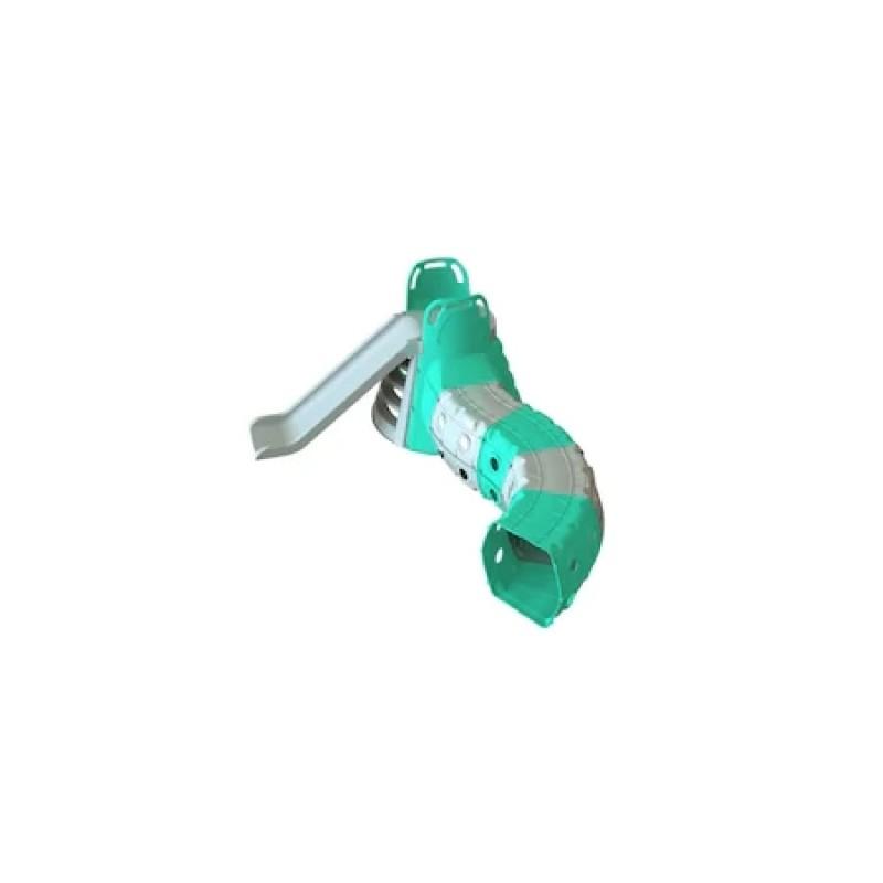Tobogan cu tunel de joaca MyKids Gri Turquoise 01470 1