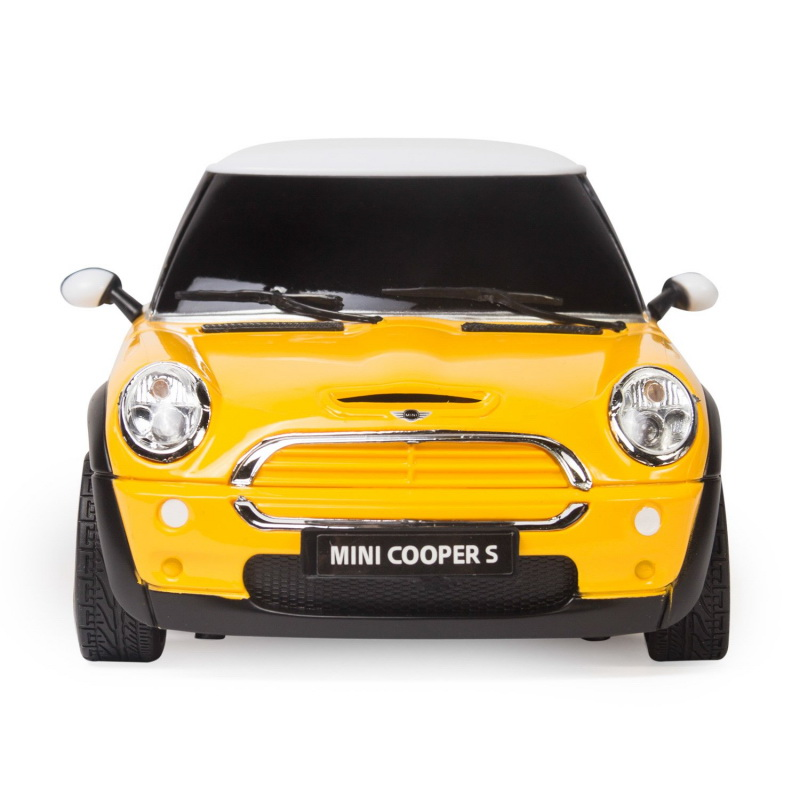Masina cu telecomanda MiniCooper galben cu scara 1 la 18 Rastar