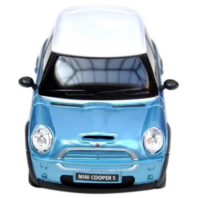 Masina cu telecomanda MiniCooper Bleu cu scara 1 la 18 Rastar