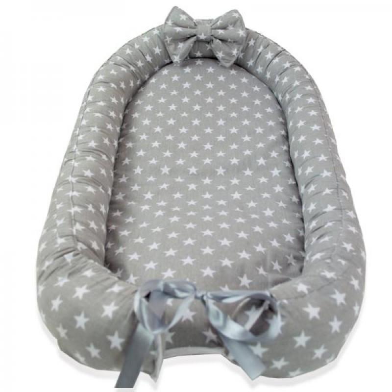 Baby Nest din Cocos MyKids Stars Grey